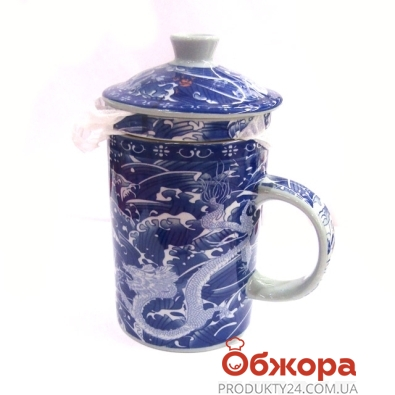 Чашка с заварником Гжель1680 – ИМ «Обжора»