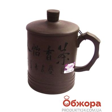 Чашка с крышкой подарочная,глиняная 2031 – ИМ «Обжора»