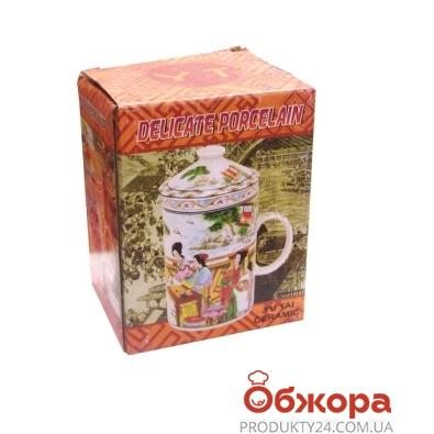 Чашка с заварником с рисунком 1580 – ИМ «Обжора»