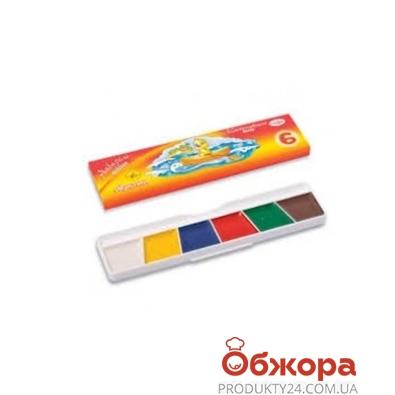 Краски акварельные медовые 6 цв. без кисточки Ф*311032 – ИМ «Обжора»