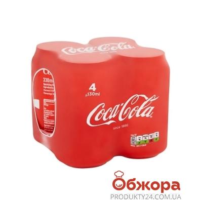 Вода Кока-кола мультипак 4шт 0,33л – ИМ «Обжора»