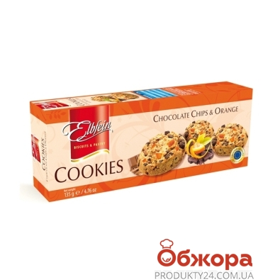 Печенье Эльбфайн (Elbfein) с шоколадом и апельсином 135г – ИМ «Обжора»