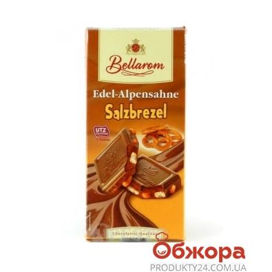 Шоколад Белларом (Bellarom) молочный с соленым крекером 200 г – ИМ «Обжора»