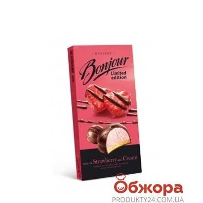 Десерт Конти Бонжур клубника со сливками 160 г – ИМ «Обжора»