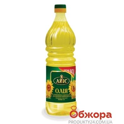 Подсолнечное масло Авис рафинированное 1 л – ИМ «Обжора»