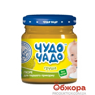 Пюре Чудо-Чадо груша б/сахара  90 г – ИМ «Обжора»
