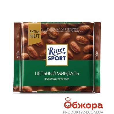 Шоколад Риттер спорт (Ritter Sport) молочный цельный миндаль 100 г – ИМ «Обжора»