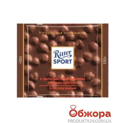 Шоколад Риттер черный цельный орех 100 г – ИМ «Обжора»