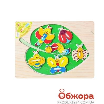 Игр. Деревян.игрушка  MD 0290 насекомые 6 шт., 29,5-21,5 см – ИМ «Обжора»