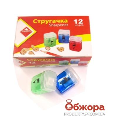 Точилка пластмас. прозр.конт. цветная KL1102 – ИМ «Обжора»