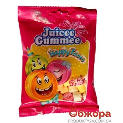 Конфеты Джусии-Гаммии (Juicee Gummee) смайлики 80 г – ИМ «Обжора»