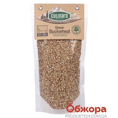 Гречка Кулинаро (Culinaro) зеленая 400 г – ИМ «Обжора»