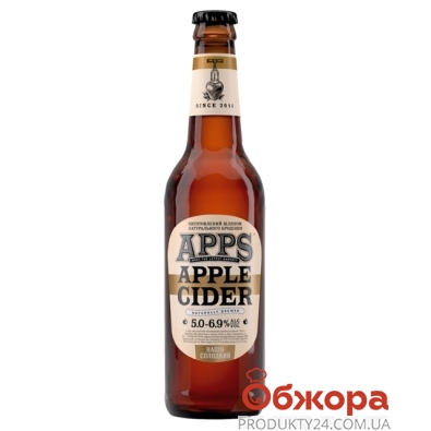 Напиток Сидр сл/алк APPS полусладкий 0,5 л – ИМ «Обжора»