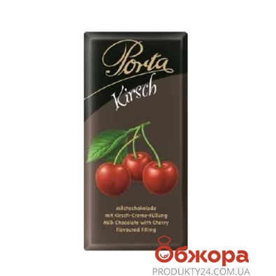 Шоколад Porta молочный с вишней амарена 100 г – ИМ «Обжора»