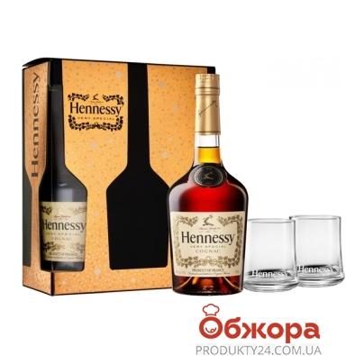 Коньяк Хеннесси (Hennessy) VS 0,7л + 2 бокала – ИМ «Обжора»