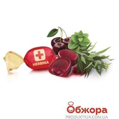 Конфеты Рошен (Roshen) Хербина эвкалипт ментол сок вишни – ИМ «Обжора»