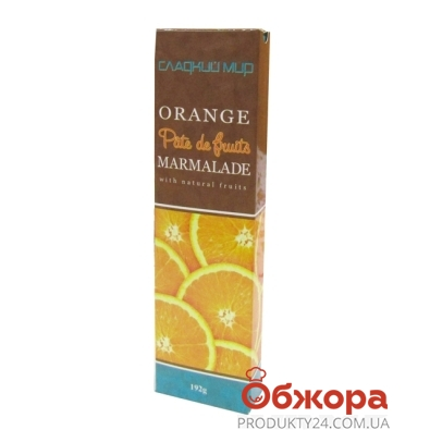 Мармелад Сладкий мир Patte de Fruits апельсин 192 г – ИМ «Обжора»