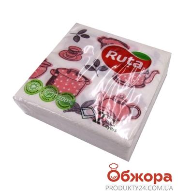 Салфетки Рута (Ruta) 40 л Дабл Кухонные мотивы – ИМ «Обжора»