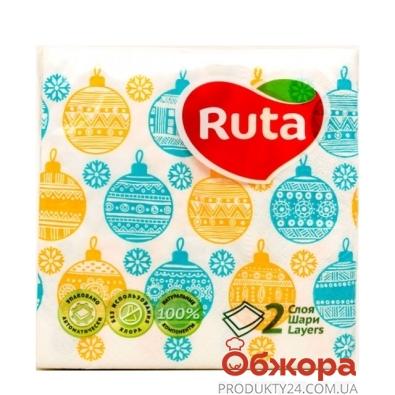 Салфетки Рута (Ruta) 40л 24х24 2-ш Игрушки – ИМ «Обжора»