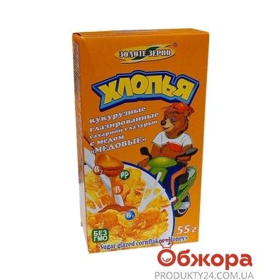 Сухой завтрак Золотое Зерно 55г хлопья кукур. медовые – ИМ «Обжора»