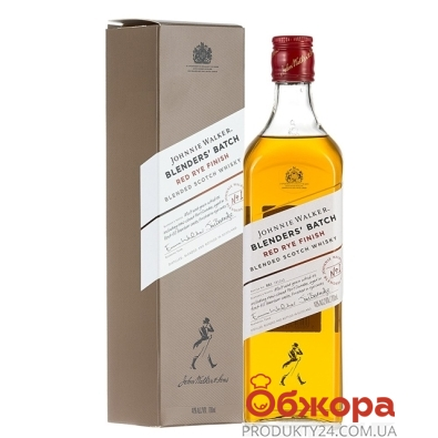 Виски Дж.Уолкер (Johnnie Walker) Red Rye Finish 40% бурбон ржаной 0,7 л – ИМ «Обжора»