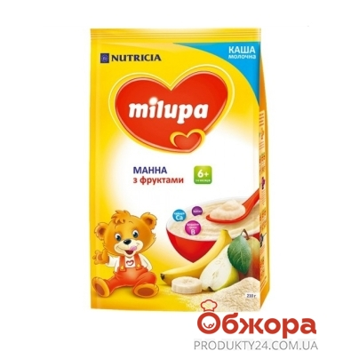 Каша Milupa 210г Манна молочна з фруктами м/у з 6 міс – ІМ «Обжора»
