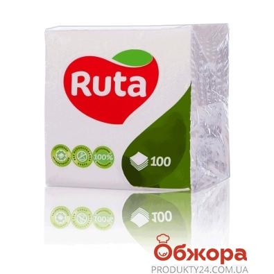 Салфетки Рута (Ruta) белые 100 шт – ИМ «Обжора»