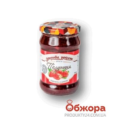 Клубника с сахаром Здорова родина 0,35 л – ИМ «Обжора»