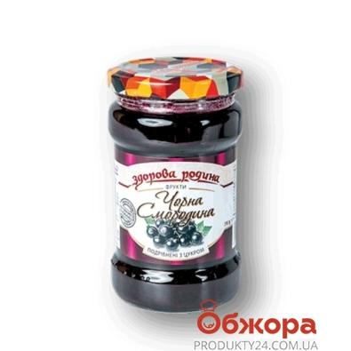 Черная смородина с сахаром Здорова родина 0,35 л – ИМ «Обжора»