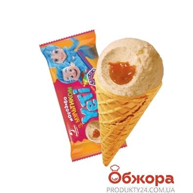 Мороженое Ласунка Yeti пломбир крем-брюле с карам 70 г – ИМ «Обжора»