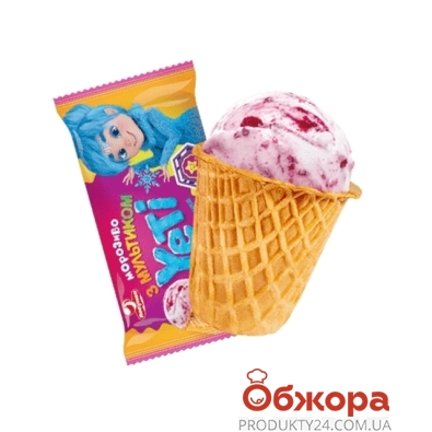 Мороженое Ласунка Yeti пломбир с вишневой подваркой 70 г – ИМ «Обжора»