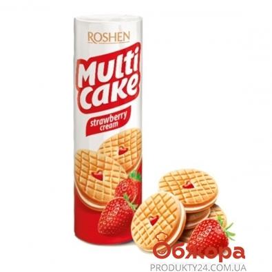 Печенье Рошен (Roshen) Мульти-кейк клубника-сливки 195 г – ИМ «Обжора»