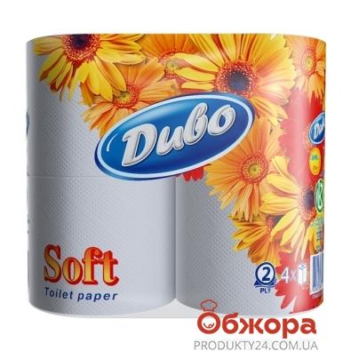 Туалетная бумага Обухов Диво Софт белая 4 шт. – ИМ «Обжора»
