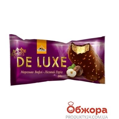 Мороженое Три Медведя Deluxe Вафли-Лесной орех эскимо 80 г – ИМ «Обжора»