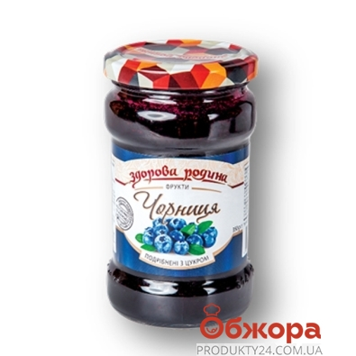 Конс. Здорова родина черника с сахаром 350 г – ИМ «Обжора»