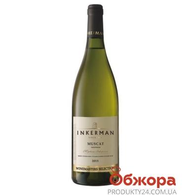 Вино Инкерман (INKERMAN)  Мускат WMS полусладкое белое 0,75 л. – ИМ «Обжора»