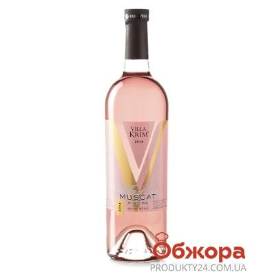Вино Вилла Крым Мускат розовое полусладкое, 0,75 л – ИМ «Обжора»