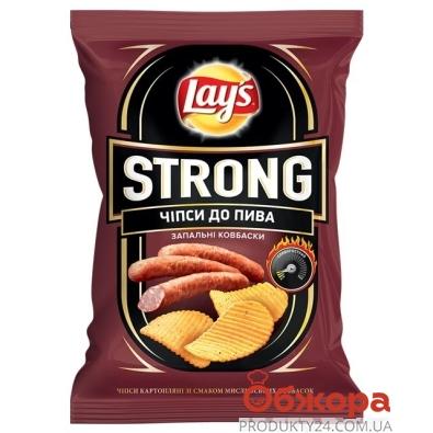 Чипсы Лейс (Lay's) Strong острые колбаски 62 г – ИМ «Обжора»