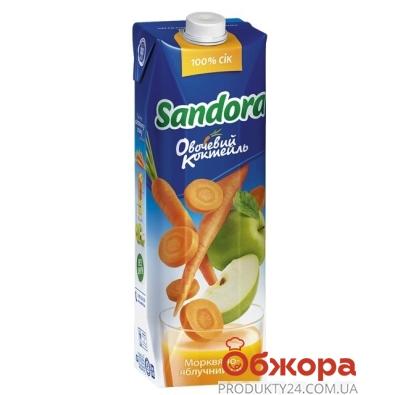 Сок Сандора (Sandora) Овощной коктейль морковно-яблочный 1 л – ИМ «Обжора»
