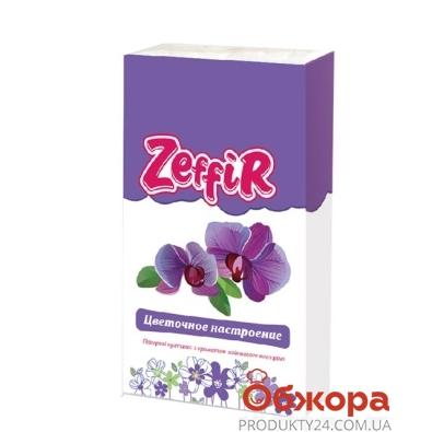 Платки нос. Зефир (Zeffir) Цветочное настроение 10 шт. – ИМ «Обжора»