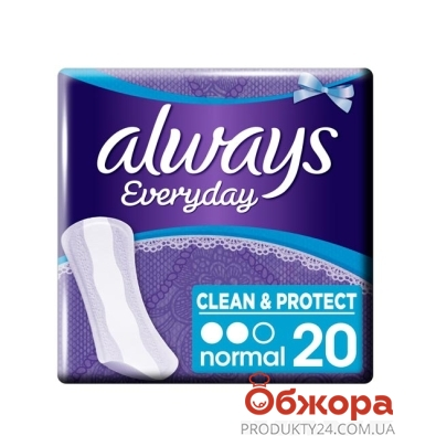 Прокладки Олвейс (Always) Everyday Fresh Normal Single 20 шт – ИМ «Обжора»