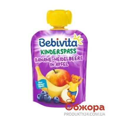 Пюре банан чорниця яблуко Bebivita 90 г – ІМ «Обжора»
