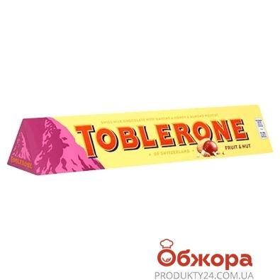Шоколад Таблерон (Toblerone) Молочный с изюмом и нугой  100 г – ИМ «Обжора»