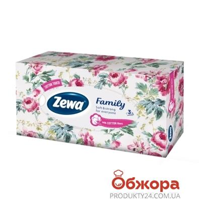 Салфетки для лица Зева (ZEWA) Clean & Soft,  3 слоя, 90 шт – ИМ «Обжора»