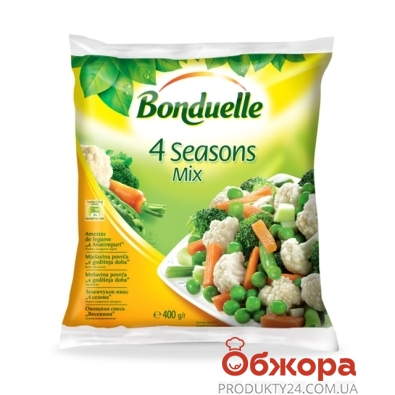 Зам, Овочі Бондюель 400г `4 пори року` – ІМ «Обжора»