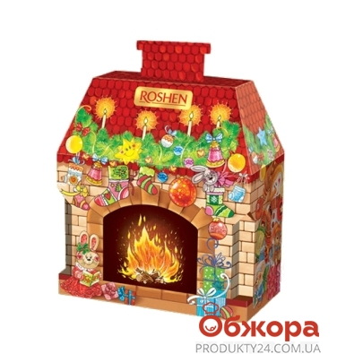 Подарок новогодний Рошен (Roshen) новогодний камин 647г – ИМ «Обжора»