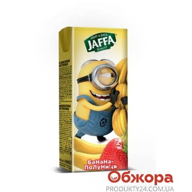 Нектар Джаффа 0,2л Міньйони банан/полуниця – ІМ «Обжора»