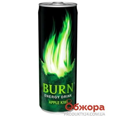 Напиток энергетический Берн (Burn) Яблоко-Киви 0,25л – ИМ «Обжора»