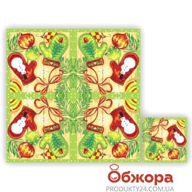 Салфетки  Luxy Новогодние рукавички 33х33 3 сл. 20 шт – ИМ «Обжора»