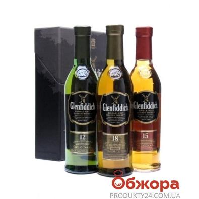 Виски Гленфидиш 3х0,2л (12 лет + 15 лет + 18 лет) Набор – ИМ «Обжора»